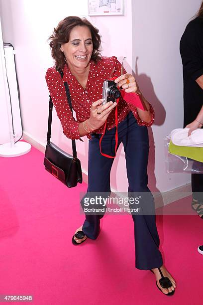 Ines de la Fressange attends the Schiaparelli show as part of Paris Fashion Week Haute Couture Fall/Winter 2015/2016 on July 6 2015 in Paris France