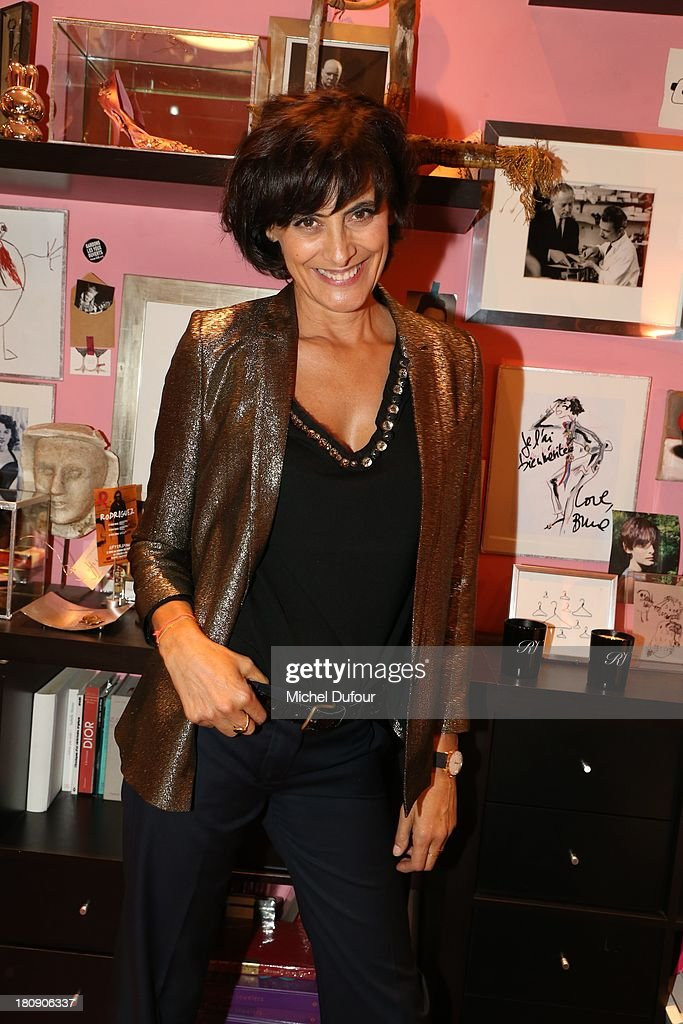Ines de La Fressange attends the Vogue Fashion Night In Paris at Roger Vivier on September 17, 2013 in Paris, France.