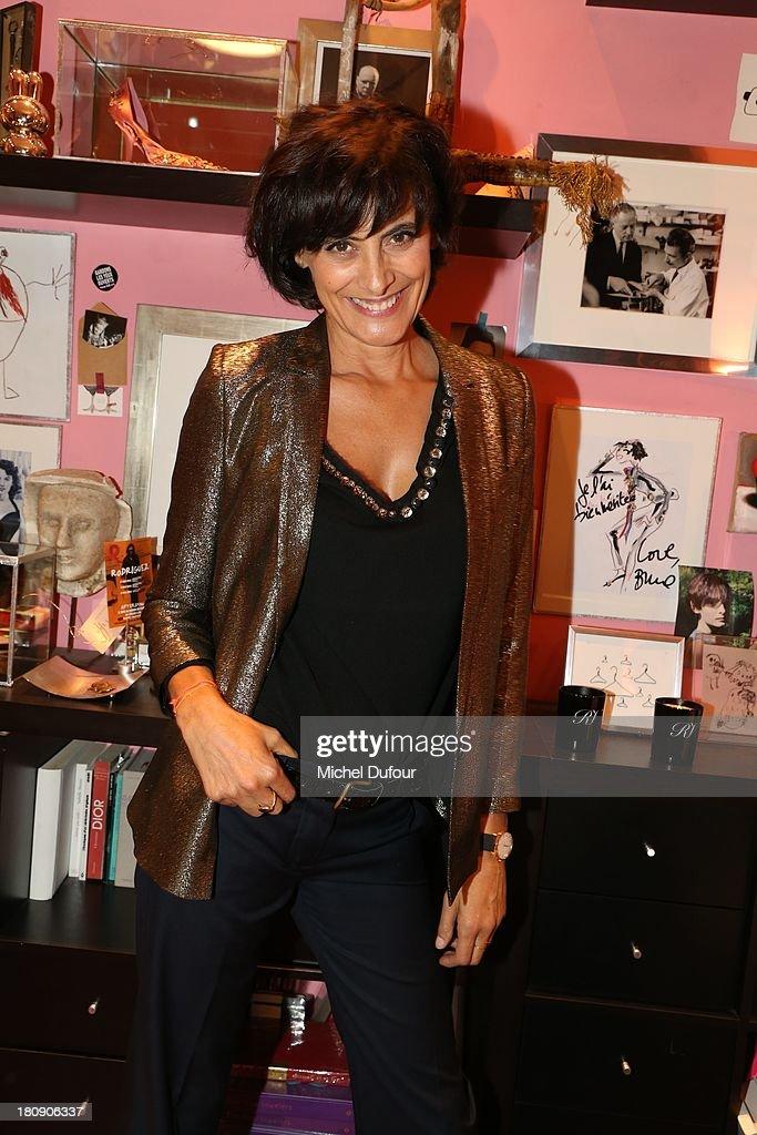 Ines de La Fressange attends the Vogue Fashion Night In Paris at Roger Vivier on September 17, 2013 in Paris, France.