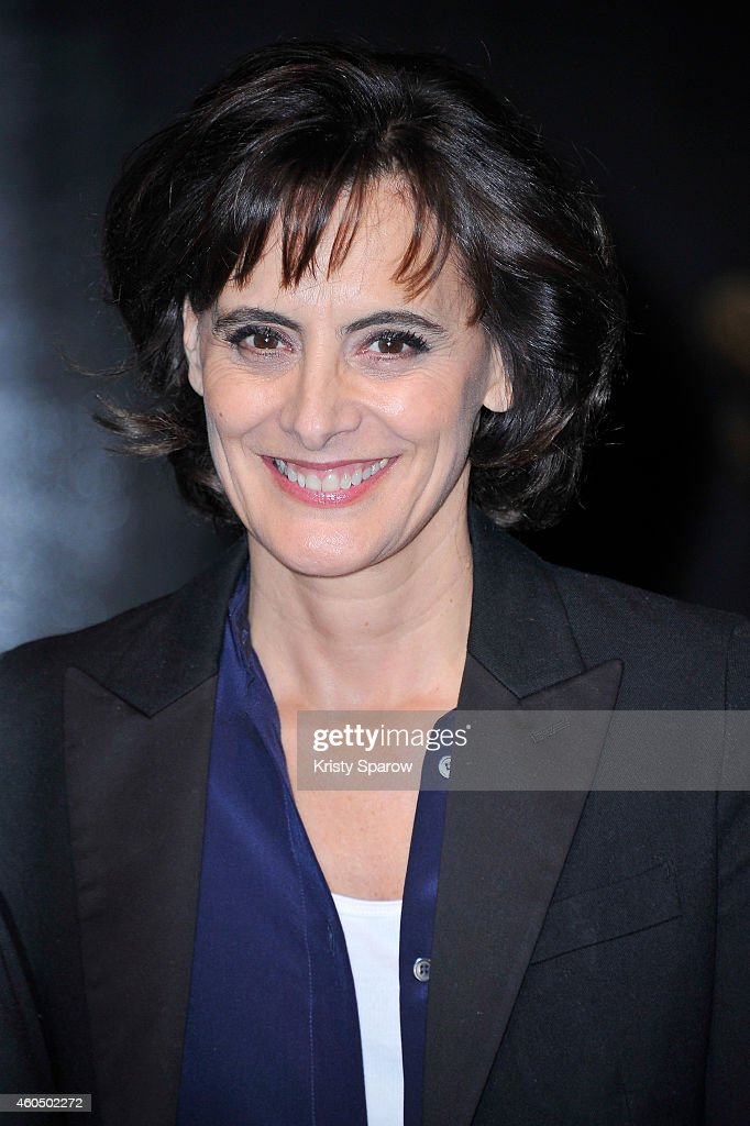 <a gi-track='captionPersonalityLinkClicked' href=/galleries/search?phrase=Ines+de+la+Fressange&family=editorial&specificpeople=2078500 ng-click='$event.stopPropagation()'>Ines de la Fressange</a> poses during 'Grevin Fashion' Waxwork Unveiling at Musee Grevin on December 15, 2014 in Paris, France.