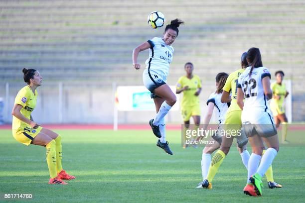 Ines Jaurena of Paris FC during the women's Division 1 match between Paris FC and Paris Saint Germain on October 15 2017 in Paris France