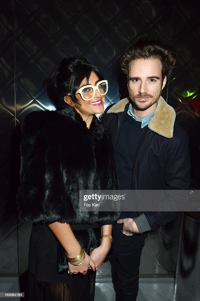 Ines Olympe Mercadal (R) and a friend attend the Diesel and Edun Party - PFW F/W 2013 at La Gaite Lyrique on March 3rd, 2013 in Paris, France.