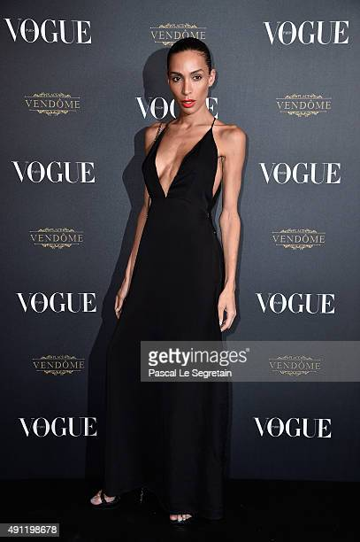 Ines Rau attends the Vogue 95th Anniversary Party on October 3 2015 in Paris France