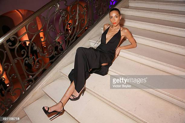Ines Rau attends Vogue 95th Anniversary Party on October 3 2015 in Paris France