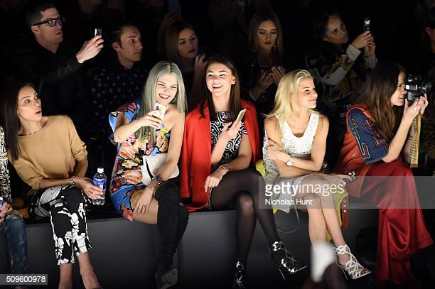 Ines Rau Bonnie Strange Stefanie Giesinger Caro Daur and Dylana Suarez attend Desigual fashion show during Fall 2016 New York Fashion Week The Shows...