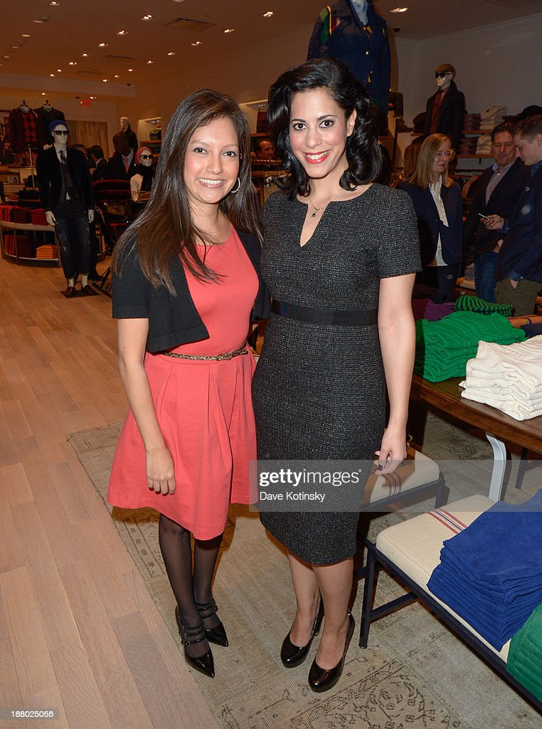 Ines Rosales (L) and playwright Yasmine Rana attend the Tommy Hilfiger Celebrates Opening of New Garden State Plaza Store event at Garden State Plaza on November 14, 2013 in Paramus, New Jersey.