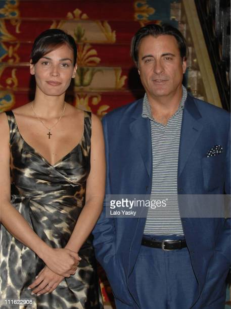Ines Sastre and Andy Garcia during Ines Sastre and Andy Garcia Attend a Photocall for 'The Lost City' October 17 2006 in Madrid Spain