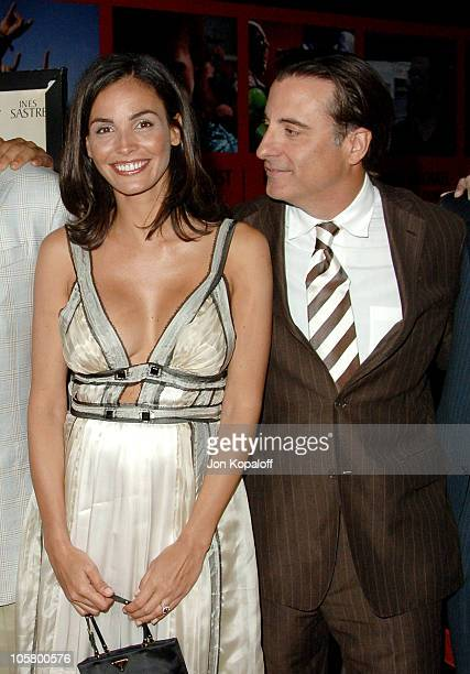 Ines Sastre and Andy Garcia during 'The Lost City' Los Angeles Premiere Arrivals at Arclight Cinemas in Hollywood California United States