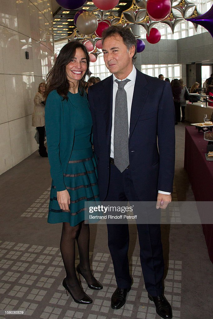 <a gi-track='captionPersonalityLinkClicked' href=/galleries/search?phrase=Ines+Sastre&family=editorial&specificpeople=206220 ng-click='$event.stopPropagation()'>Ines Sastre</a> and partner Michele Alfano pose before the Don Quichotte Ballet Hosted By 'Reve d'Enfants' Association and AROP at Opera Bastille on December 9, 2012 in Paris, France.