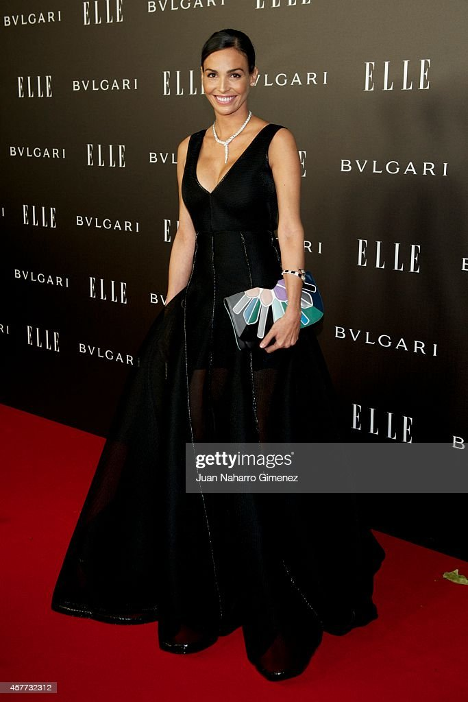 Ines Sastre attends 'Elle Style Awards 2014' photocall at Italian Embassy on October 23 2014 in Madrid Spain
