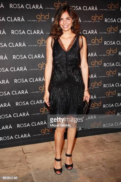 Ines Sastre attends the afterparty for the Rosa Clara show at Barcelona Bridal Week June 9 2009 in Barcelona Spain