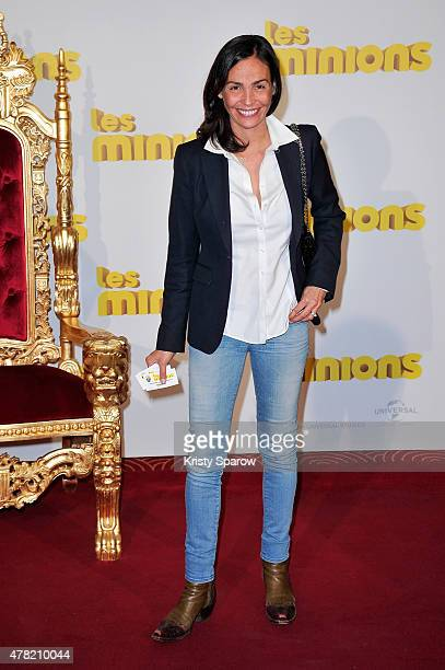 Ines Sastre attends the 'Les Minions' Paris Premiere at Le Grand Rex on June 23 2015 in Paris France