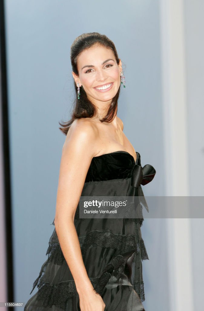 Ines Sastre during 2005 Venice Film Festival Closing Ceremony Red Carpet at Palazzo del Cinema in Venice Lido Italy