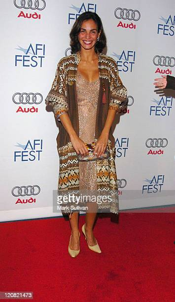 Ines Sastre during AFI Fest 2005 'The Lost City' Screening Arrivals at ArcLight Hollywood in Hollywood California United States