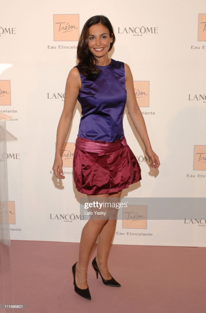 Ines Sastre during Ines Sastre Presents New Lancome Fragrance 'Tresor Eau Atincelante' at Palacio de Santa Barbara in Madrid Spain