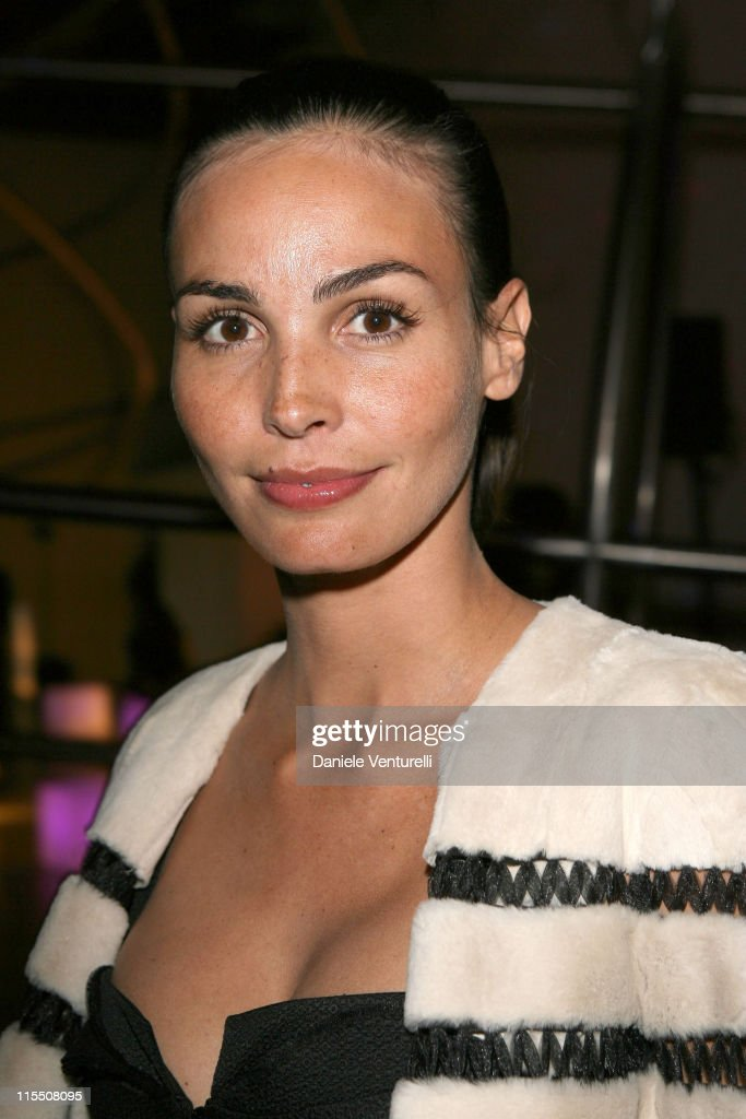 Ines Sastre during Loris Cecchini Exhibition Fendi Party at Palais de Tokyo in Paris France