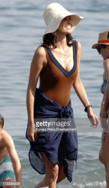 Ines Sastre is seen on July 11 2013 in Sotogrande Spain