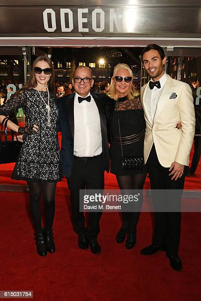 Inesa De La Roche Touker Suleyman Amanda Eliasch and MarkFrancis Vandelli attend the 'Free Fire' Closing Night Gala during the 60th BFI London Film...