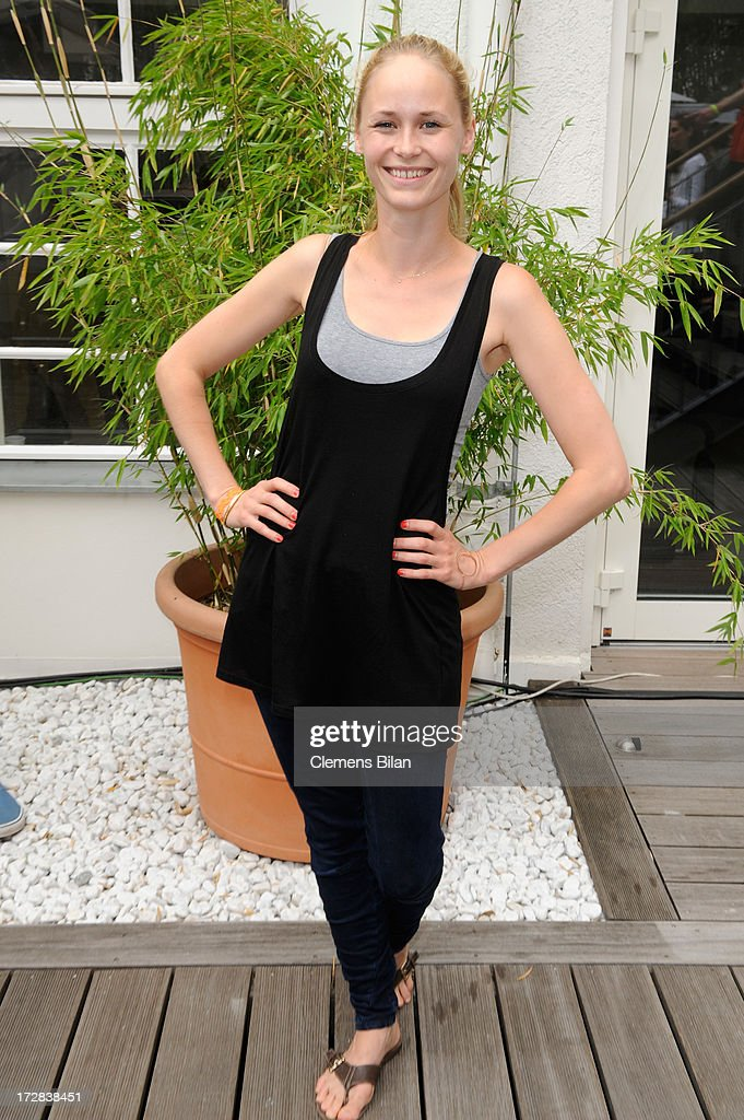 Inez Bjoerg David attends the Gala Fashion Brunch at Ellington Hotel on July 5, 2013 in Berlin, Germany.
