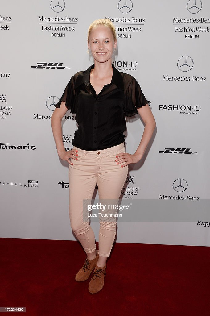Inez Bjoerg David attends the Rebekka Ruetz show during Mercedes-Benz Fashion Week Spring/Summer 2014 at Brandenburg Gate on July 2, 2013 in Berlin, Germany.