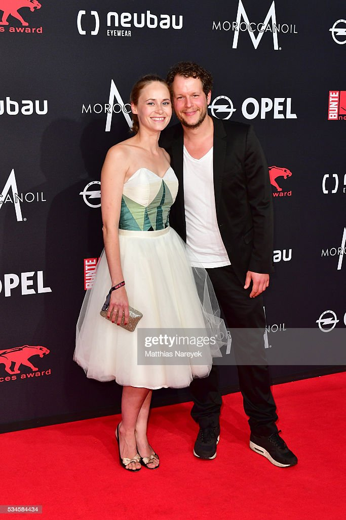 Inez Bjoerk David and Mirko Lang during the New Faces Award Film 2015 at ewerk on May 26, 2016 in Berlin, Germany.