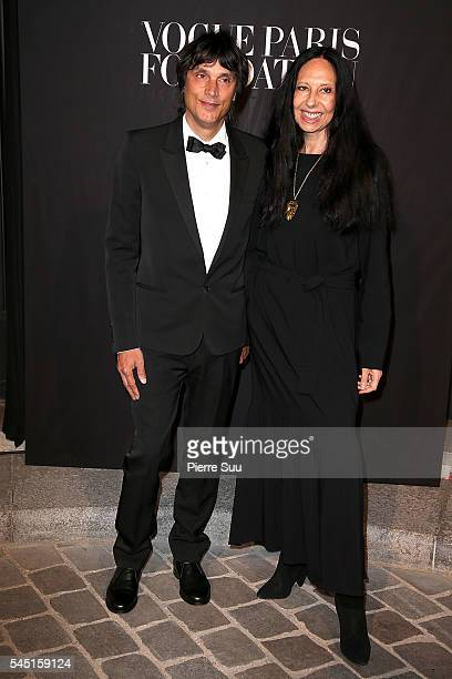 Inez Van Lamsweerde and Vinoodh Matadin attend the Vogue Foundation Gala 2016 at Palais Galliera on July 5 2016 in Paris France