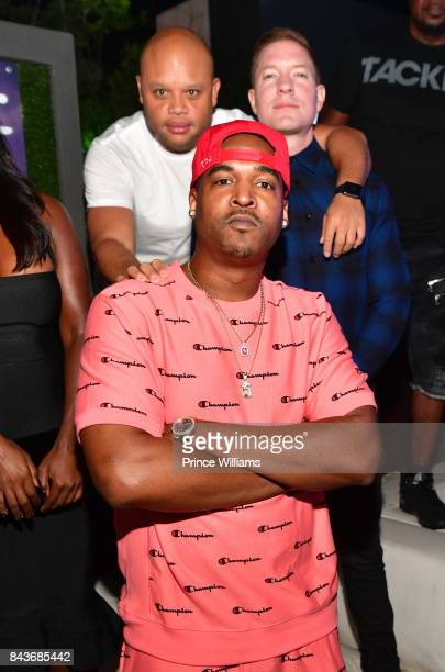 Infamous and Joseph Sikora attend the Luda birthday celebration at Compound on September 3 2017 in Atlanta Georgia