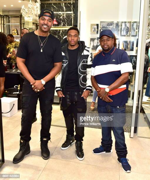 Infamous Swift and Chubbie Baby attend Sip Shop Listen for The 'Crown' EP at Philipp Plein on April 12 2017 in Atlanta Georgia