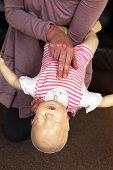 Infant choking training