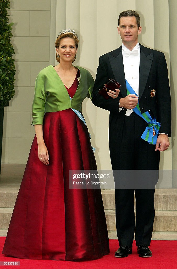 Infanta Cristina of Spain and her husband Inaki Urdangarin arrive to attend the wedding between Danish Crown Prince Frederik and Miss Mary Elizabeth...