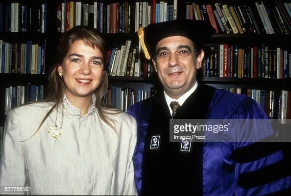 Infanta Cristina of Spain and Placido Domingo circa 1990