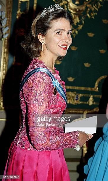 Infanta Cristina Of Spain During The Celebration For King Carl Gustav Of Sweden'S 50Th Birthday