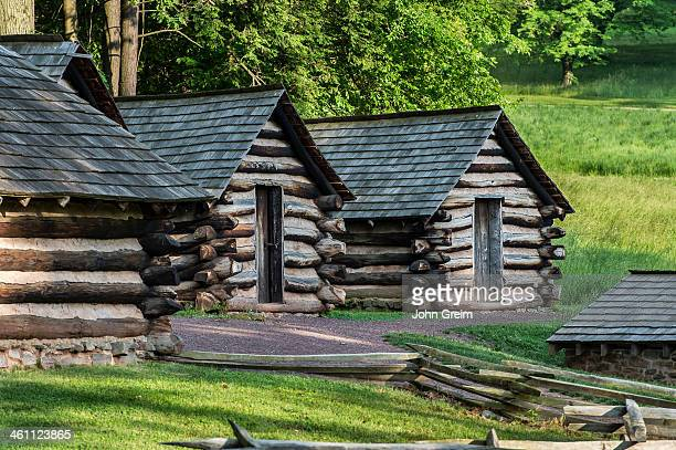 Infantry cabins used by Washington's troops at Valley Forge