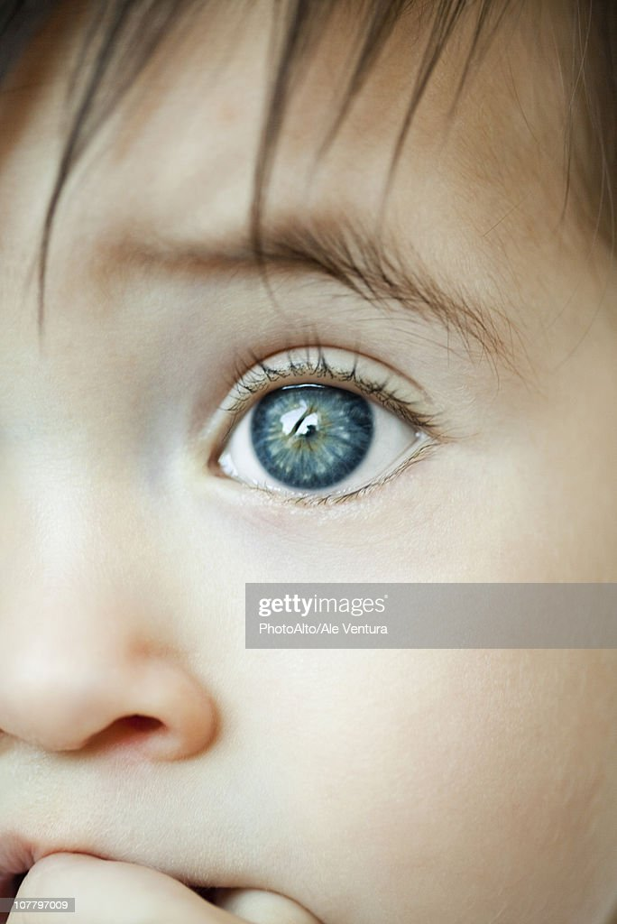 Infant's eye, close-up : Stock Photo
