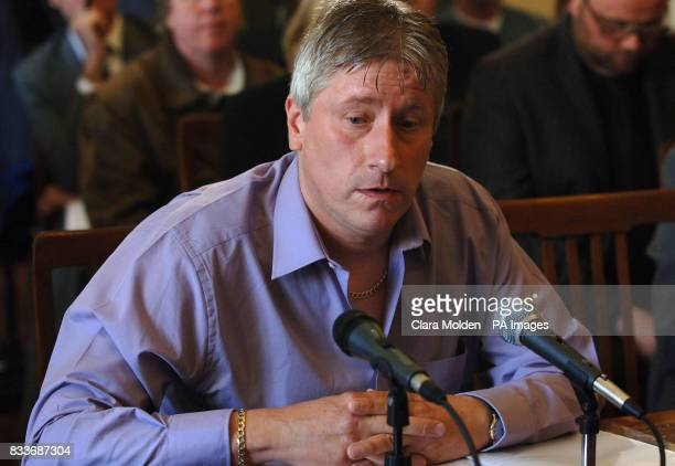 Infected haemophiliac David Fielding gives evidence at an independent inquiry into the use of contaminated NHS blood products given to patients with...