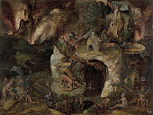 Inferno Landscape Found in the collection of Museo del Prado Madrid