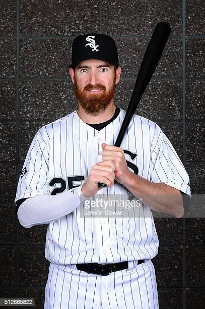 Infielder Adam LaRoche of the Chicago White Sox poses for a portrait during spring training photo day at Camelback Ranch on February 27 2016 in...