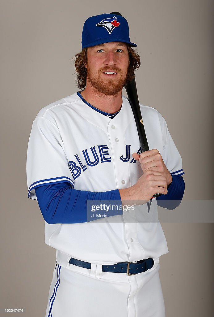 Infielder Adam Loewen #72 of the Toronto Blue Jays poses for a photo during photo day at Florida Auto Exchange Stadium on February 18, 2013 in Dunedin, Florida.