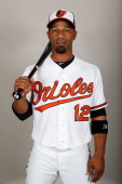 Infielder Alexi Casilla of the Baltimore Orioles poses for a photo during photo day at Ed Smith Stadium on February 22 2013 in Sarasota Florida