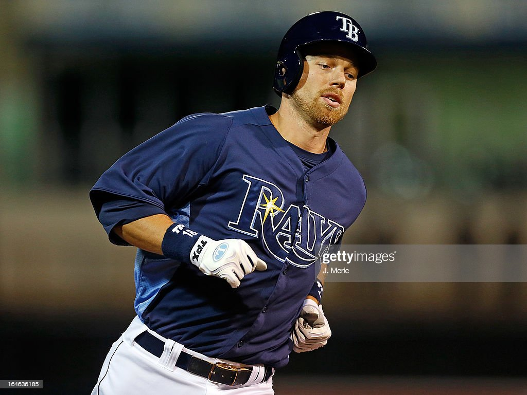 Infielder Ben Zobrist #18 of the Tampa Bay Rays rounds the bases after his home run against the Pittsburgh Pirates during a Grapefruit League Spring Training Game at the Charlotte Sports Complex on March 25, 2013 in Port Charlotte, Florida.