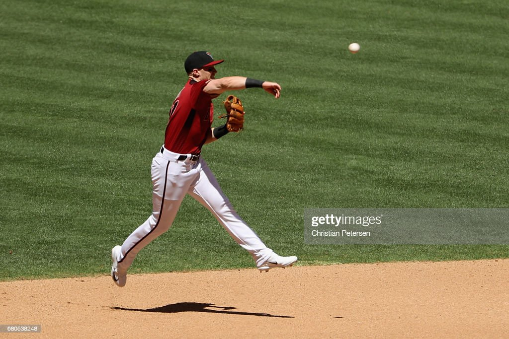 Infielder Brandon Drury #27 of the Arizona Diamondbacks in action during the MLB game against the Colorado Rockies at Chase Field on April 30, 2017 in Phoenix, Arizona.