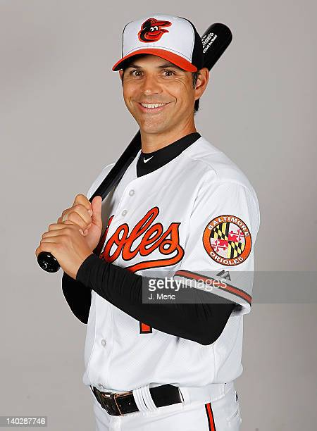 Infielder Brian Roberts of the Baltimore Orioles poses for a photo during photo day at Ed Smith Stadium on March 1 2011 in Sarasota Florida