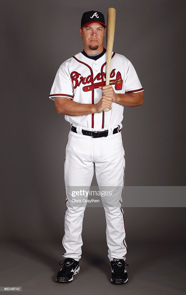 Infielder Chipper Jones of the Atlanta Braves poses for a photo during Spring Training Photo Day on February 19 2009 at Champions Stadium at Walt...