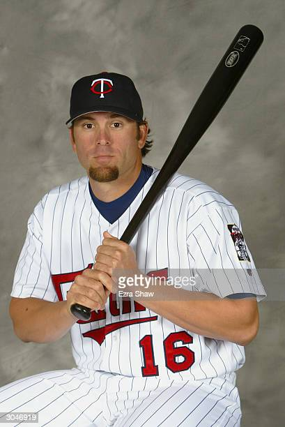 Infielder Doug Mientkiewicz of the Minnesota Twins poses for portrait during Twins Photo Day at the Twins Spring Training Complex on March 1 2004 in...