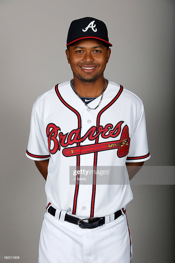 Infielder Elmer Reyes #75 of the Atlanta Braves poses for a photo during photo day at Champion Stadium at the ESPN Wide World of Sports Complex at Walt Disney World on February 20, 2013 in Lake Buena Vista, Florida.