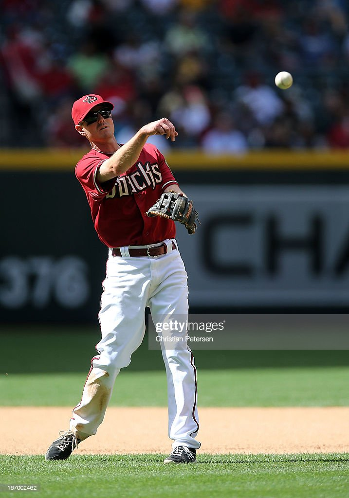 Infielder Josh Wilson #10 of the Arizona Diamondbacks during the MLB game against the Pittsburgh Pirates at Chase Field on April 10, 2013 in Phoenix, Arizona. The Diamondbacks defeated the Pirates 10-2.