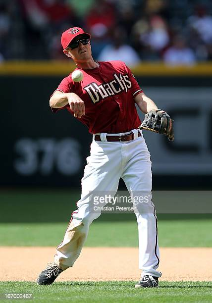 Infielder Josh Wilson of the Arizona Diamondbacks during the MLB game against the Pittsburgh Pirates at Chase Field on April 10 2013 in Phoenix...
