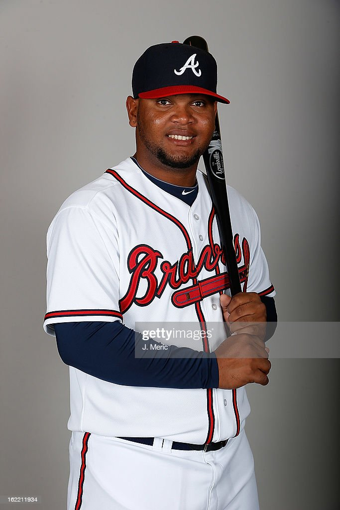 Infielder Juan Francisco #25 of the Atlanta Braves poses for a photo during photo day at Champion Stadium at the ESPN Wide World of Sports Complex at Walt Disney World on February 20, 2013 in Lake Buena Vista, Florida.