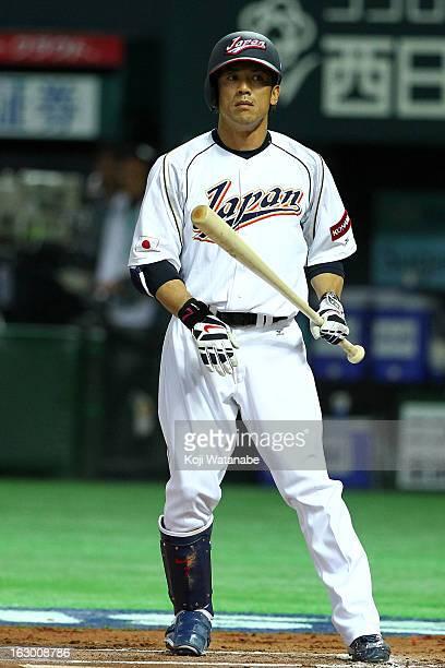 Infielder Kazuo Matsui of Japan at bat during the World Baseball Classic First Round Group A game between Japan and China at Fukuoka Yahoo Japan Dome...