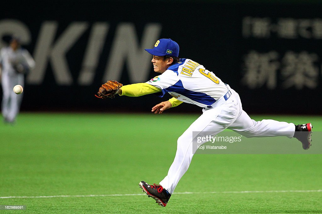 Infielder Marcio Tanaka #6 of Brazil in action during the World Baseball Classic First Round Group A game between Brazil and Cuba at Fukuoka Yahoo! Japan Dome on March 3, 2013 in Fukuoka, Japan.